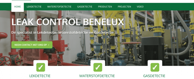 nieuwe website leak control